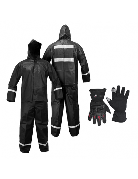 Combo Impermable K18 + Guantes Impermeables Probiker