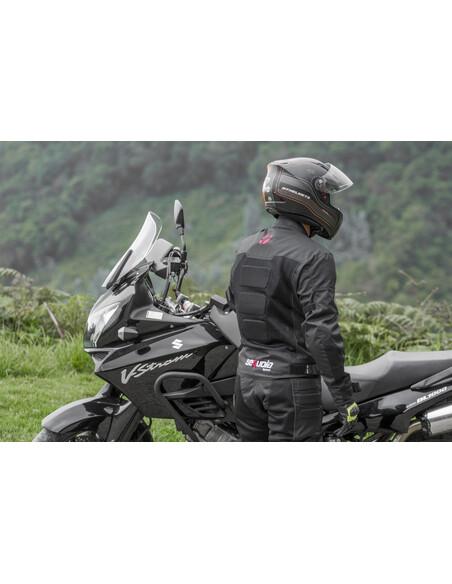 Chaqueta Mesh - Protección para Moto. Antifricción Hecha en Malla Transpirable con Impermeable Removible - 7 - Inicio